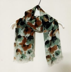 Floral scarf long